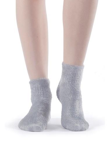 Hays Kadın Pofuduk Çorap Gri